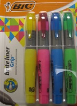 Highlighter Brite Liner Grip Xl 4-Pk 32318