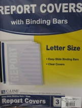 Sliding Bar Report Cover 3 Pk 42313
