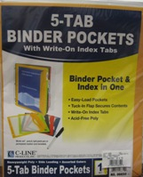 Binder Pockets 5 Tab 06650