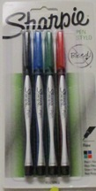 Sharpie Pen Fine 4 Pk 1742662