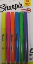 Highlighter Asst 6Pk Sharpie 2010752