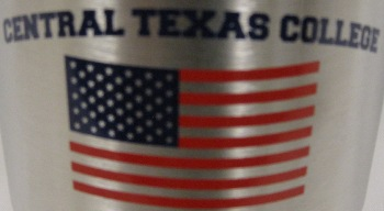 Tumbler Stainless Steel W/Flag (Clear Lid) (SKU 105369261017)