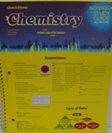 Chemistry Quickstudy Notebook