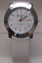 Quartz Watch With White Band
