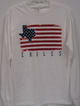 Shirt Us Flag W/ Texas L/S White