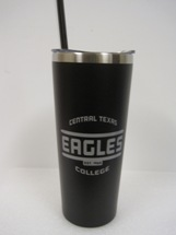 Travel Tumbler W/Silver Imprint