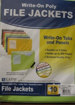 File Jackets Poly Write-On 10 Pk 63130