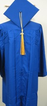 "Cap & Gown Set 6'3""-6'5"""
