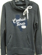 Pullover Ladies Tx Script Charcoal (SKU 105599631014)