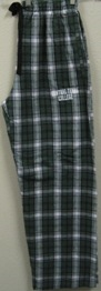 Pant Flannel Green/White Sm